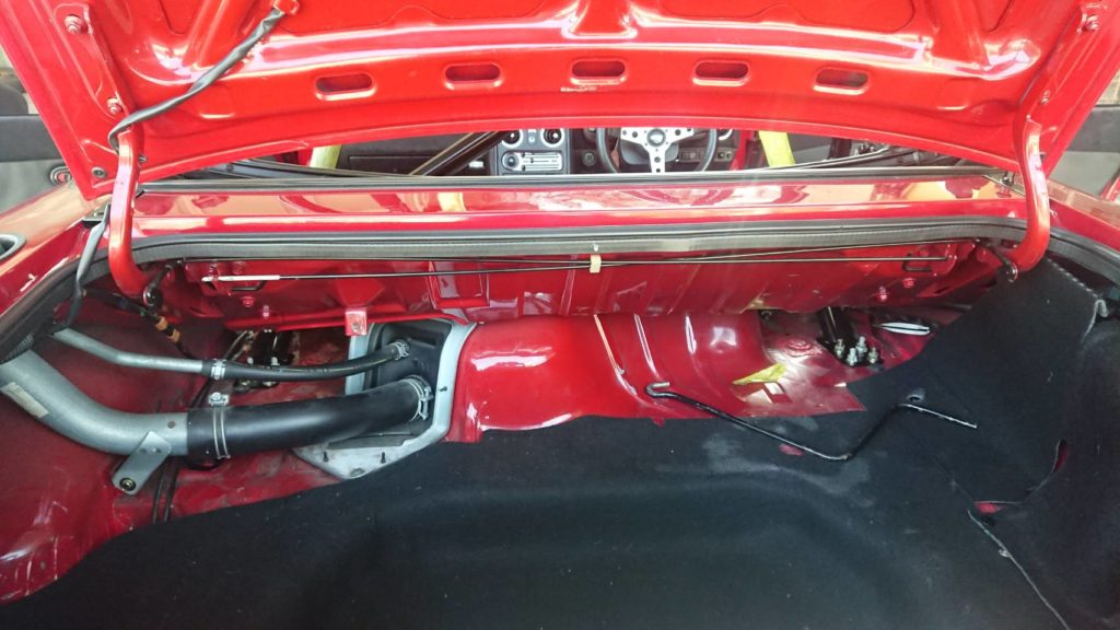 お取付けレポート ロードスター NA・NB共用 幌(ソフトトップ)専用タイプ 4点式ロールバー+斜行バー